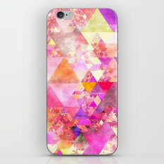 Abstract pink purple yellow -Colorful triangle pattern #Society6 iPhone & iPod Skin