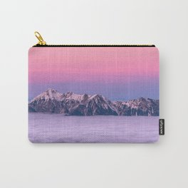 Beautiful Pink Mountains Carry-All Pouch