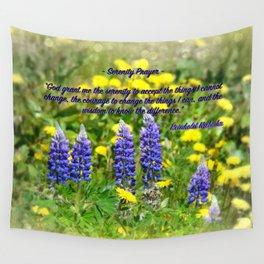 Serenity_Prayer - Spring Flowers Wall Tapestry