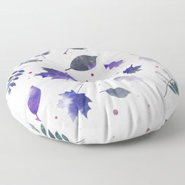 BLUEBERRY & ASH LEAF PATTERN Floor Pillow