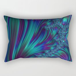 CRASH vivid jewel tones of sapphire blue & emerald green Rectangular Pillow