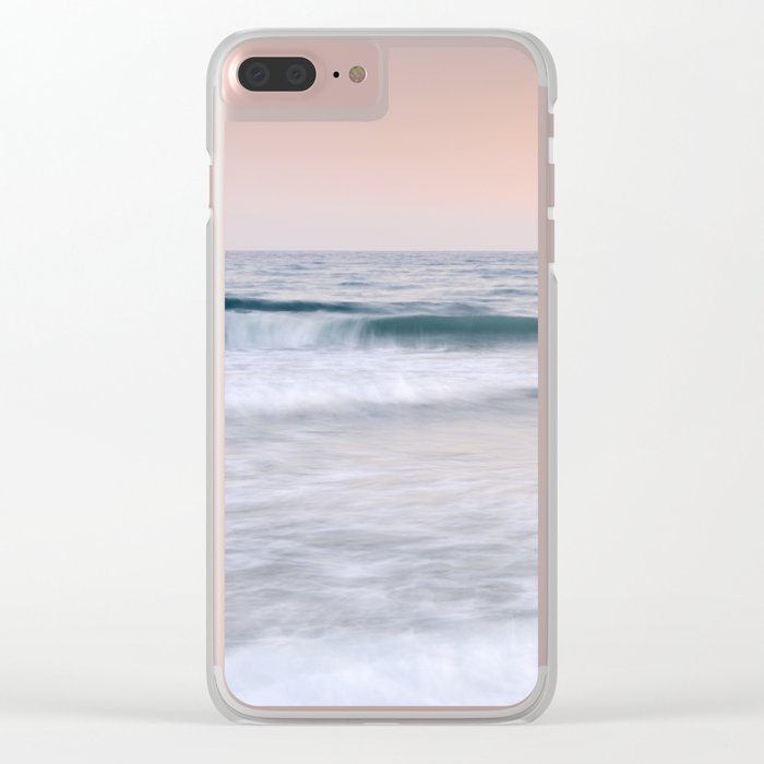 """Pink sunset"". Summer dreams.... Clear iPhone Case"