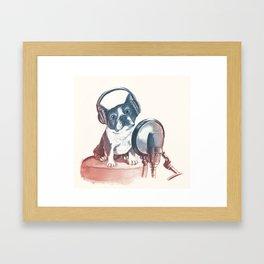 Dog Music Framed Art Print