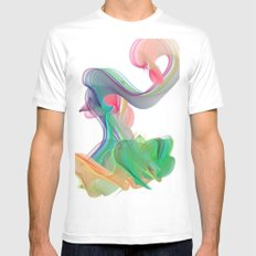 wave MEDIUM Mens Fitted Tee White