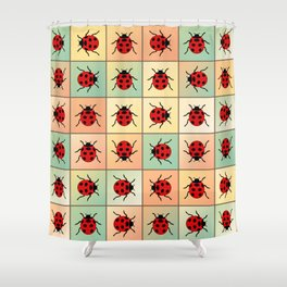 Ladybugs pattern Shower Curtain
