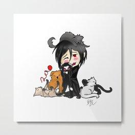 Sebastian and Cats Metal Print