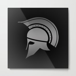Ancient Greek Spartan Helmet Metal Print