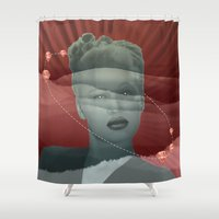 diamonds Shower Curtains featuring diamonds by Rosa Picnic
