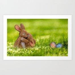 Easter Bonny   Lapin de Pâques Art Print