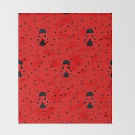 Ladybug Pattern Throw Blanket