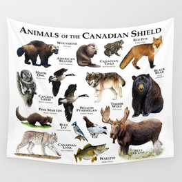 Animals of the Canadian Shield Wall Tapestry