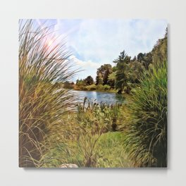 Nature - Sunset Lagoon Metal Print