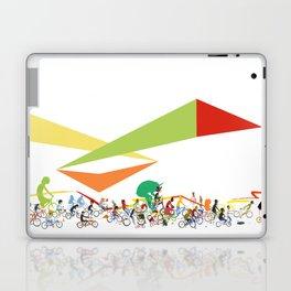 Bike Parade Print Laptop & iPad Skin