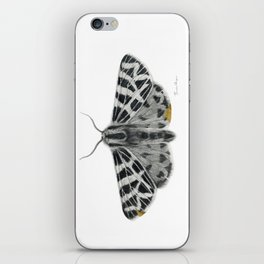 Kintsugi - A Graphite Drawing of a Moth by Brooke Figer iPhone Skin
