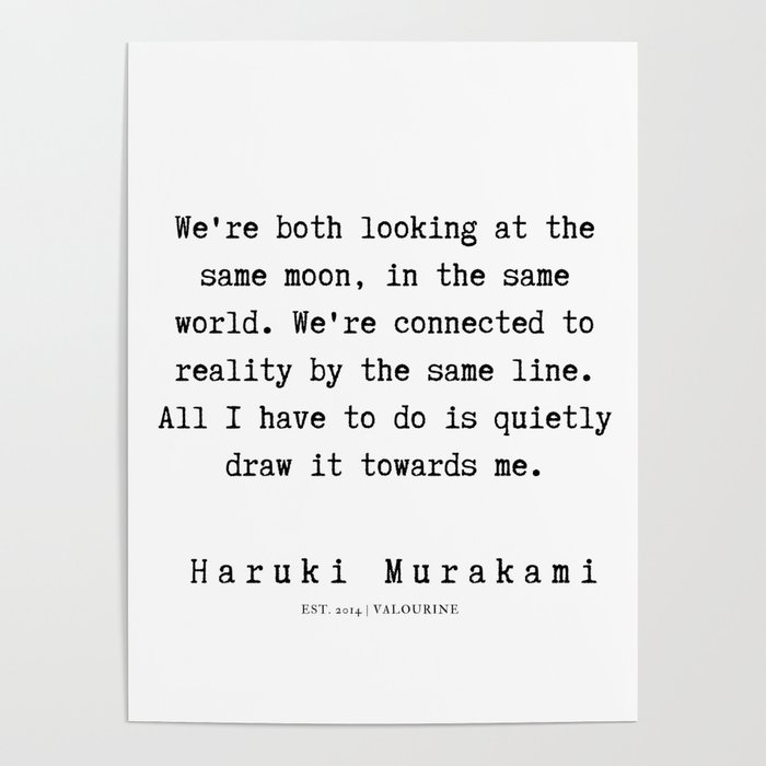 77 Haruki Murakami Quotes 190811 Poster By Quotesandsayings