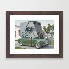 Hybrid Vehicle Framed Art Print