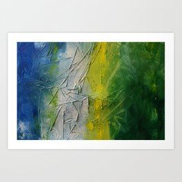 Tropicana Abstract Painting Textured Art Print