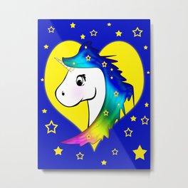 Good Night Unicorn Metal Print