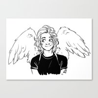 kendrawcandraw Canvas Prints featuring Wings by kendrawcandraw