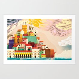 Lisbon Tourism Art Print