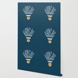 Kansas City Shuttlecock Type - White Wallpaper