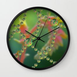 Echevaria Web Drops Wall Clock