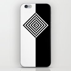 Black and White Concentric Diamonds iPhone & iPod Skin