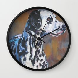 The Dalmatian dog art portrait from an original painting by L.A.Shepard Wall Clock