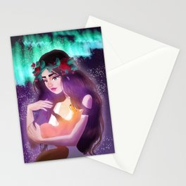 CAELA & THE NORTHERN LIGHTS (II) Stationery Cards