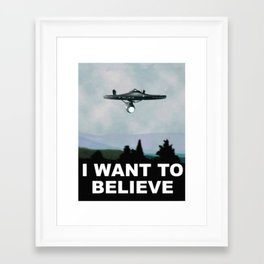 Enterprise - I Want to Believe Framed Art Print