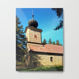 Maria Rast forest chapel 3 Metal Print