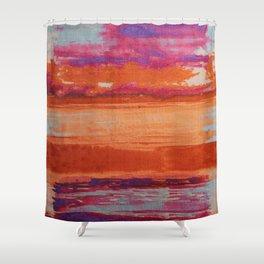 V41 Traditional Boho Marrakech Carpet Design. Shower Curtain