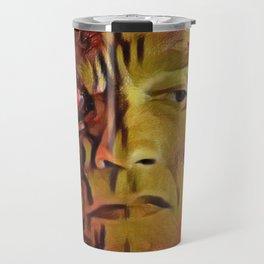 Terminator Artistic Illustration Molten Metal Style Travel Mug