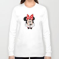 minnie mouse Long Sleeve T-shirts featuring Very cute Minnie Mouse by Yuliya L