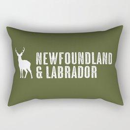 Deer: Newfoundland & Labrador, Canada Rectangular Pillow