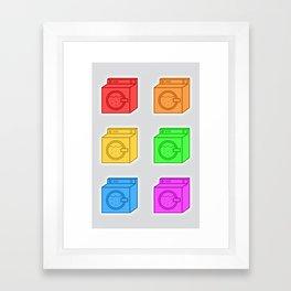 Glowing Washing Machines Framed Art Print