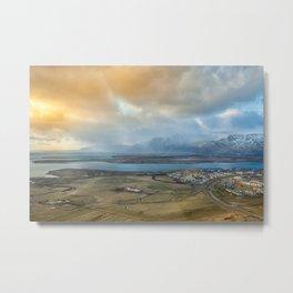 Mosfellsbær sunset | Reykjavik | Iceland Metal Print