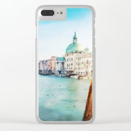 The Pier of Venice watercolor Clear iPhone Case