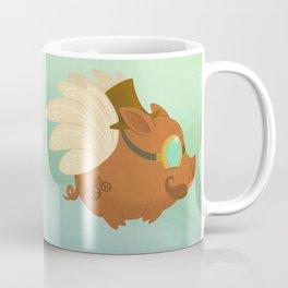 Flying Steampunk Pig Coffee Mug