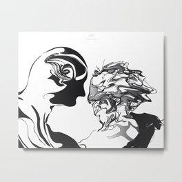 Secret-1.Black on white background.(ZOOM) Metal Print