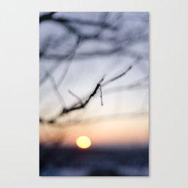 Frozen sunset Canvas Print