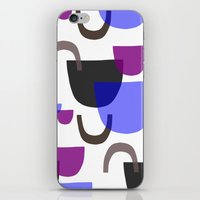 mid century modern iPhone & iPod Skins featuring Mid Century Shapes by Modern Day Magpie