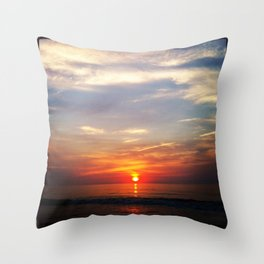 New Day in Seaside Park Throw Pillow