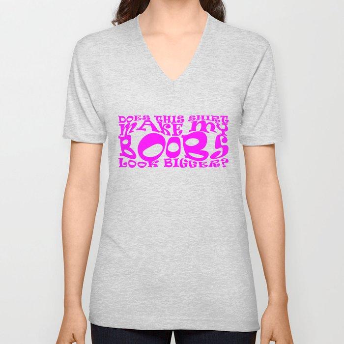 Big Boob Funny Shirt Unisex V Neck