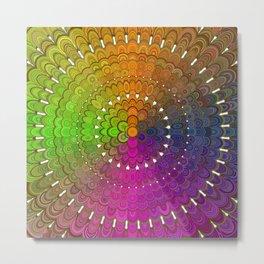 Colorful Floral Mandala Metal Print