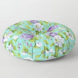 Hopeless Romantic - aqua version Floor Pillow