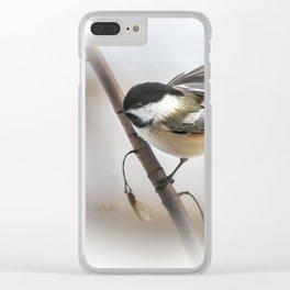 January Chickadee Clear iPhone Case