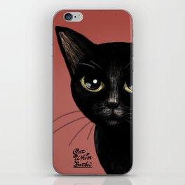 Black in red iPhone Skin
