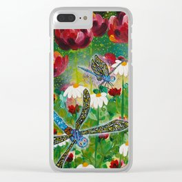 Dusk In The Garden Clear iPhone Case
