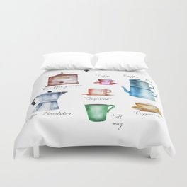 Coffee Time! Duvet Cover